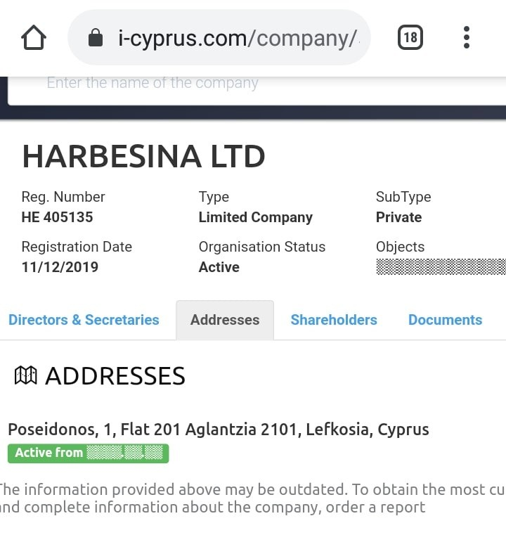 Проверка оператора Harbesina Ltd